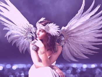 female angel with wings